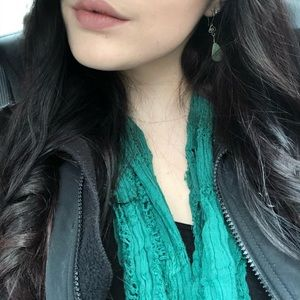 BDG GREEN SPRING INFINITY SCARF FROM UO